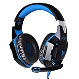 Cuffie Auricolare Gaming da Gioco ArkarTech Headset EACH G2000 con Microfono Stereo Bass LED Luce Regolatore di Volume per PC iPhone Smart Phone Laptop tablet iPad iPod MP3 MP4 Mobilephones