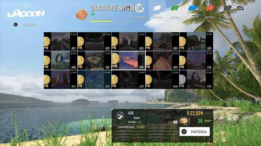 Recensione Trackmania 2 Lagoon, un tour arcade in laguna