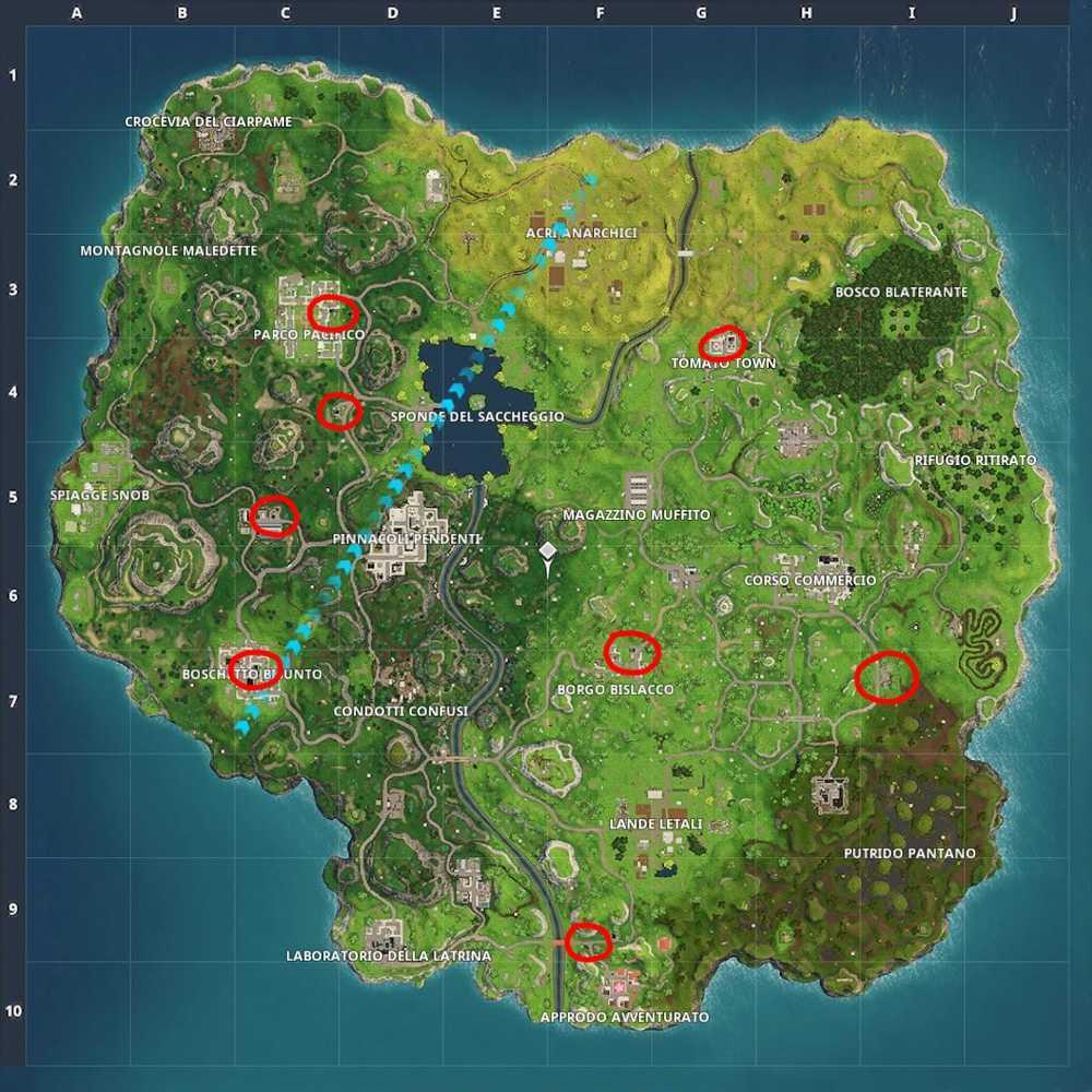 Fortnite: dove trovare le stazioni di servizio (mappa) | Guida