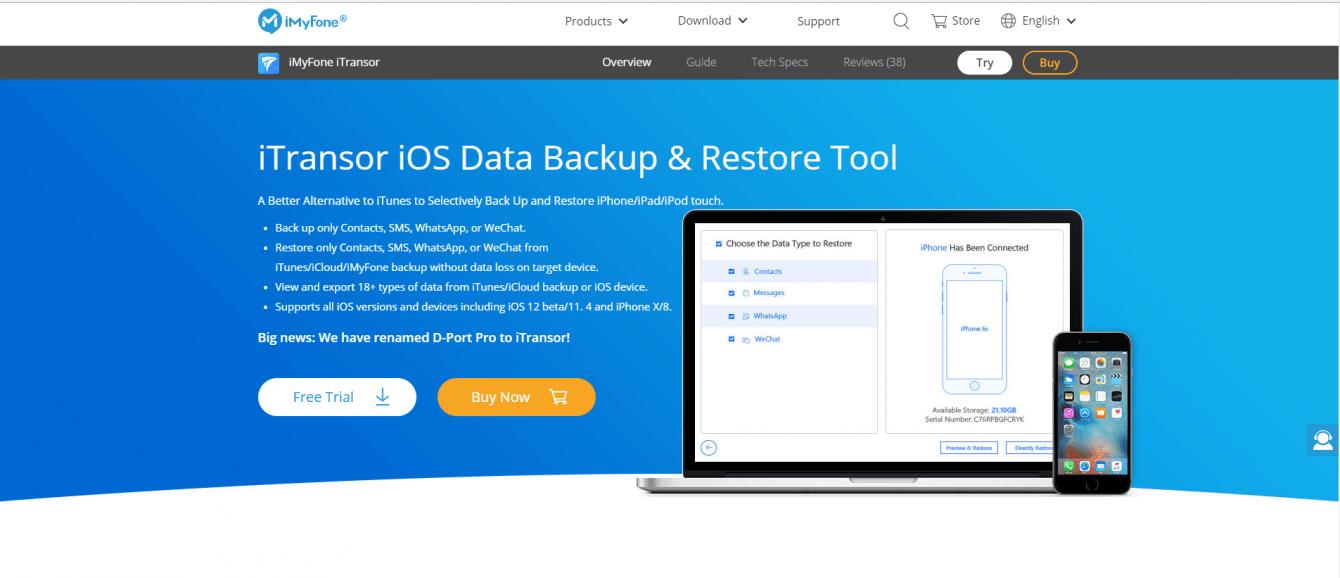 Recensione iMyFone iTransor: backup sicuro e immediato