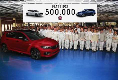 Fiat Tipo raggiunge le 500.000 unità prodotte