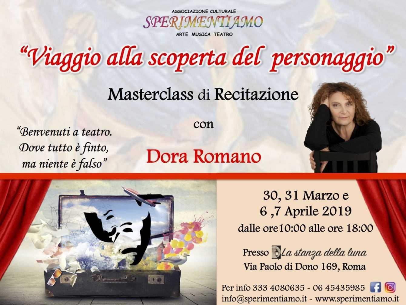 Dora Romano terrà una Masterclass di Recitazione a Roma