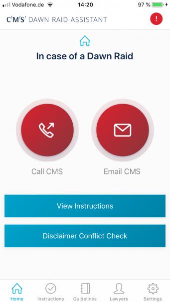 CMS Dawn Raid Assistant: un'app direttiva per l'Antitrust