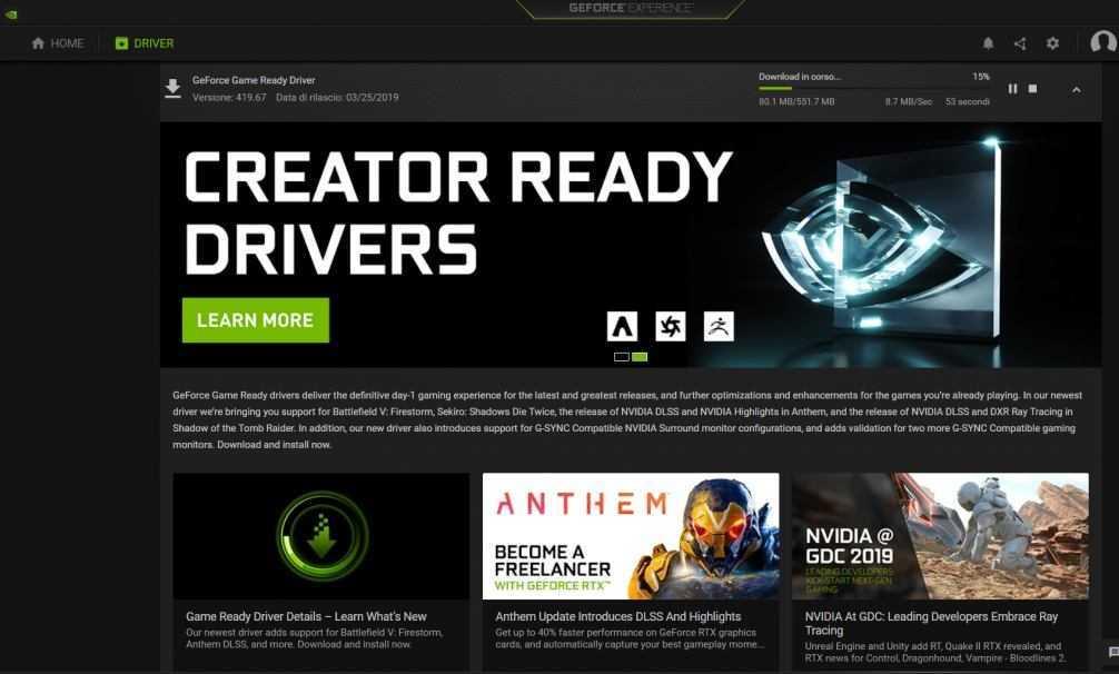 Nvidia GeForce Experience: risolta importante vulnerabilità