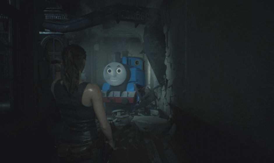 Resident Evil 2: una mod trasforma Mr. X nel Trenino Thomas