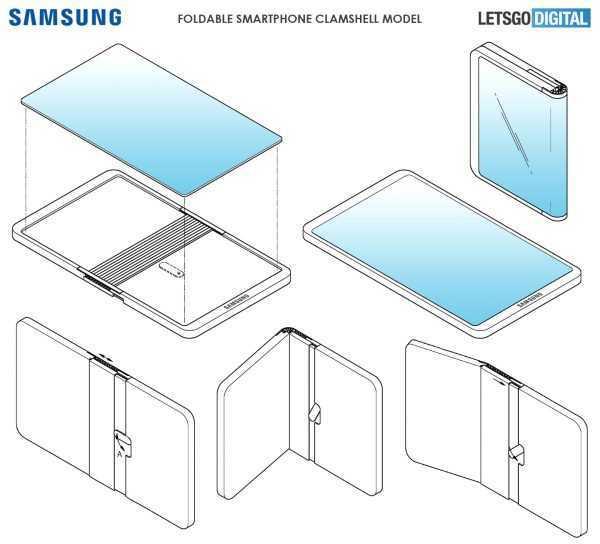 Samsung a conchiglia: brevetto mostra schermo flessibile