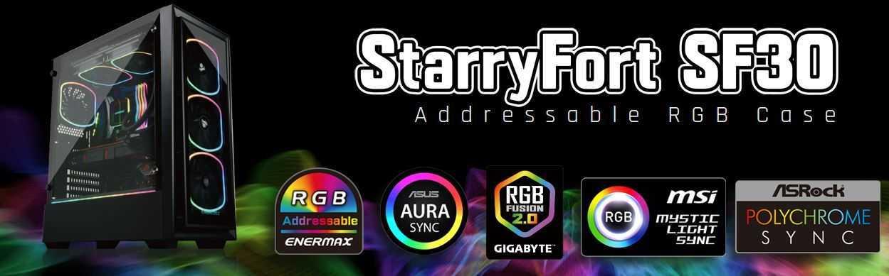 Enermax presenta il case da gaming RFRY STARRYFORT SF30