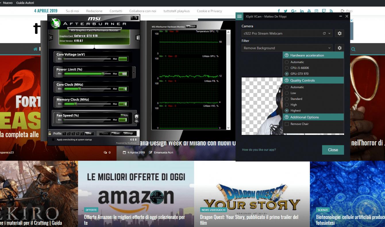 Recensione XSplit VCam: addio green screen
