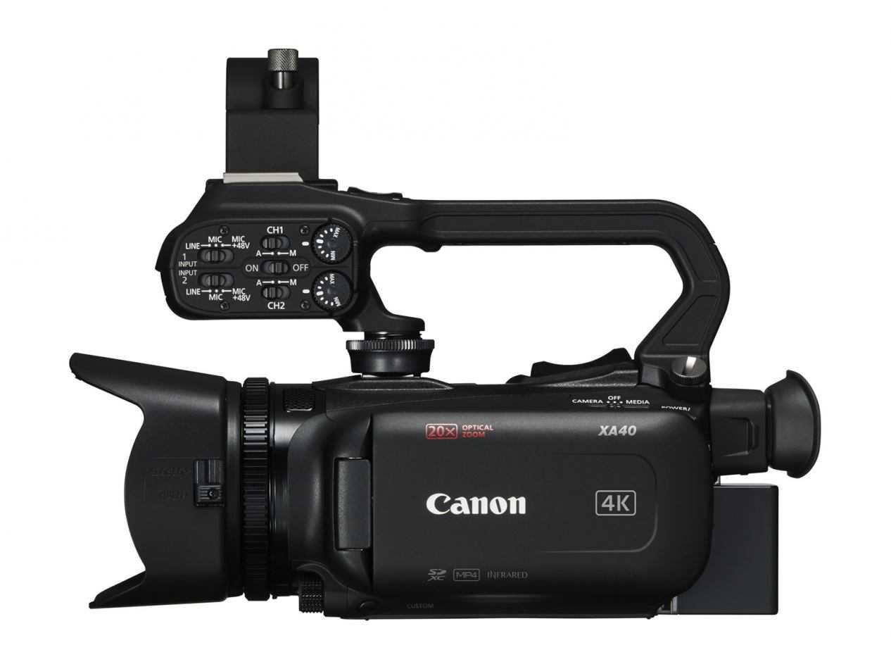 Canon XA55, XA50eXA40: videocamere 4K professionali