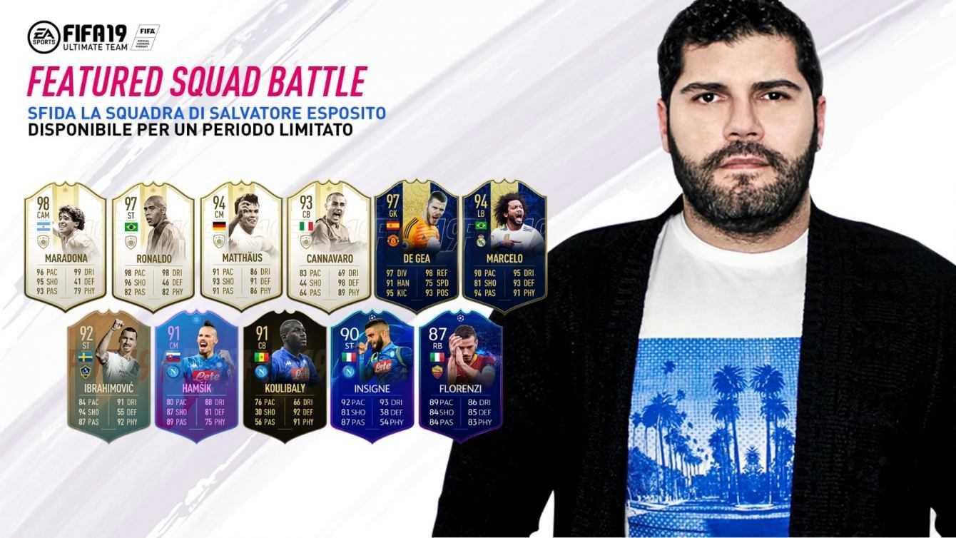 FIFA 19: Salvatore Esposito schiera la sua Squad Battle!