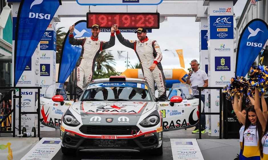 L'Abarth 124 rally esordisce con successo al Rally Islas Canarias