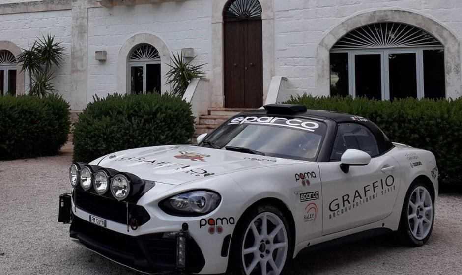 Alex Fiorio torna a correre su un'Abarth 124 rally