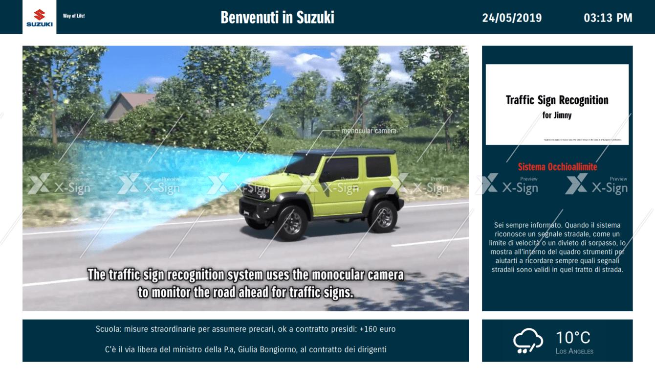 La rete Suzuki Auto si potenzia con il Digital Signage