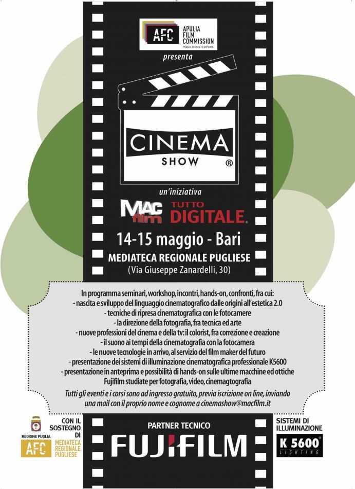 FUJIFILM Italia sponsor di Cinema Show @Bari 2019