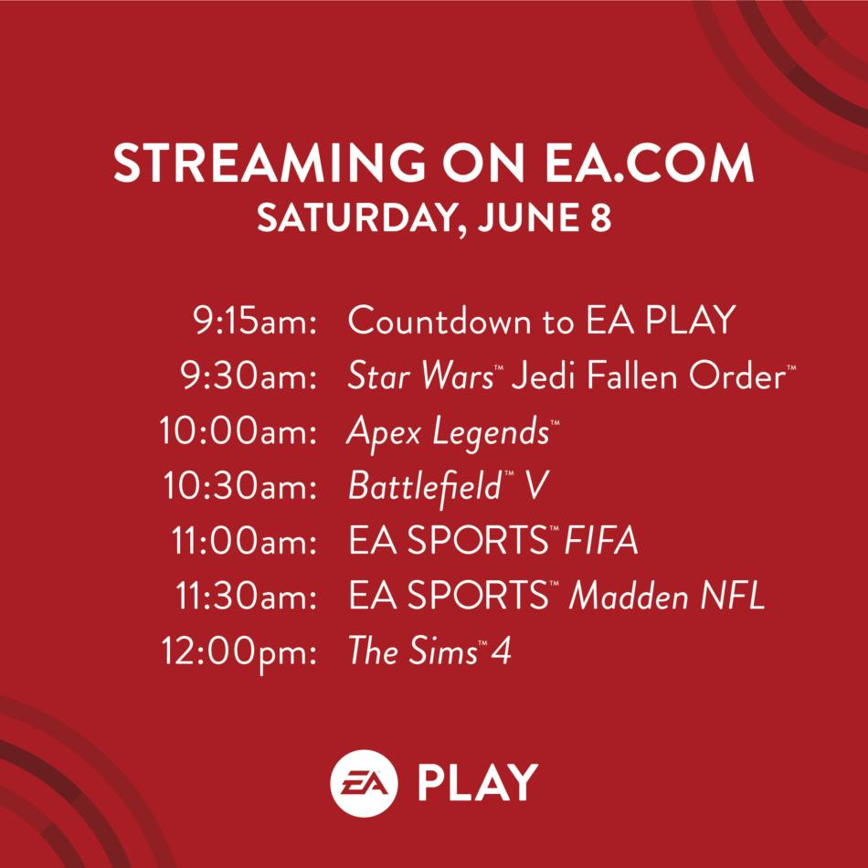 Electronic Arts annuncia la line up per l'EA PLAY 2019