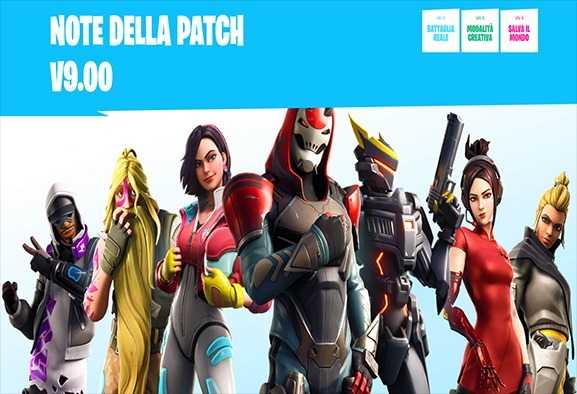 Fortnite patch 9.00: ecco a voi tutte le novità sulla stagione 9