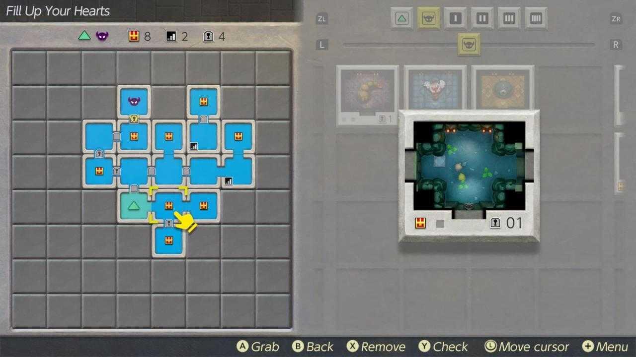 Zelda: Link's Awakening, tutti i dettagli sull'editor dei dungeon