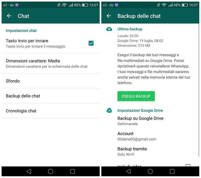 Come recuperare chat WhatsApp cancellate