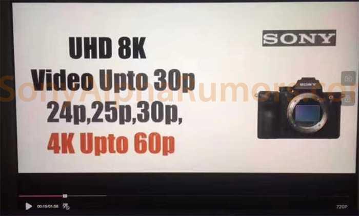 Sony A7R IV: video 8K 24p, dettagli in anteprima