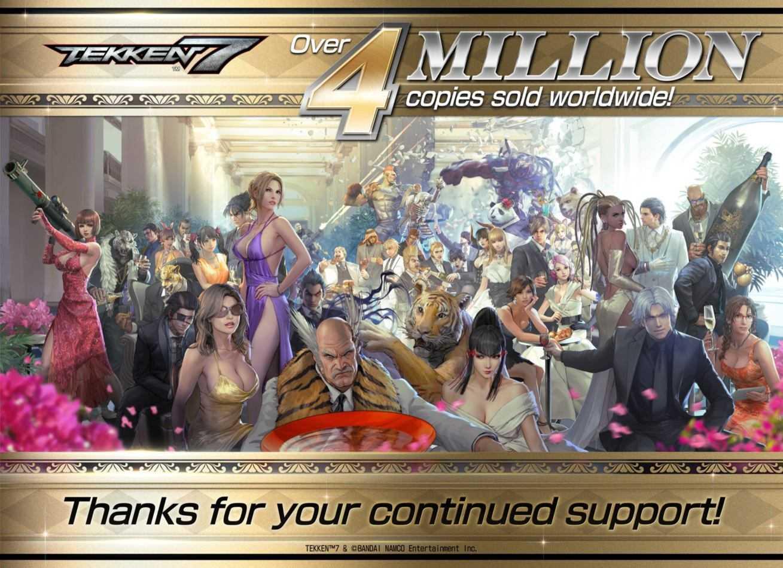 Tekken 7: raggiunti i 4 milioni di copie vendute in tutto il mondo!