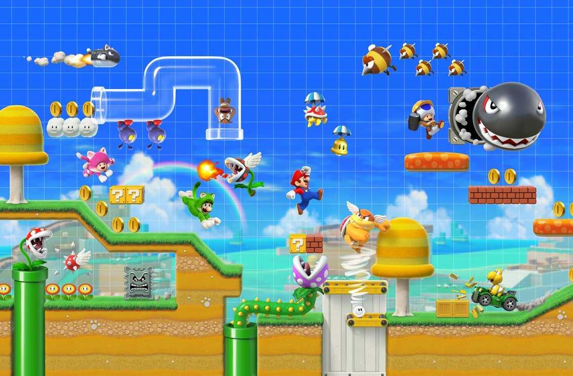 Super Mario Maker 2: come giocare in due, online o in locale