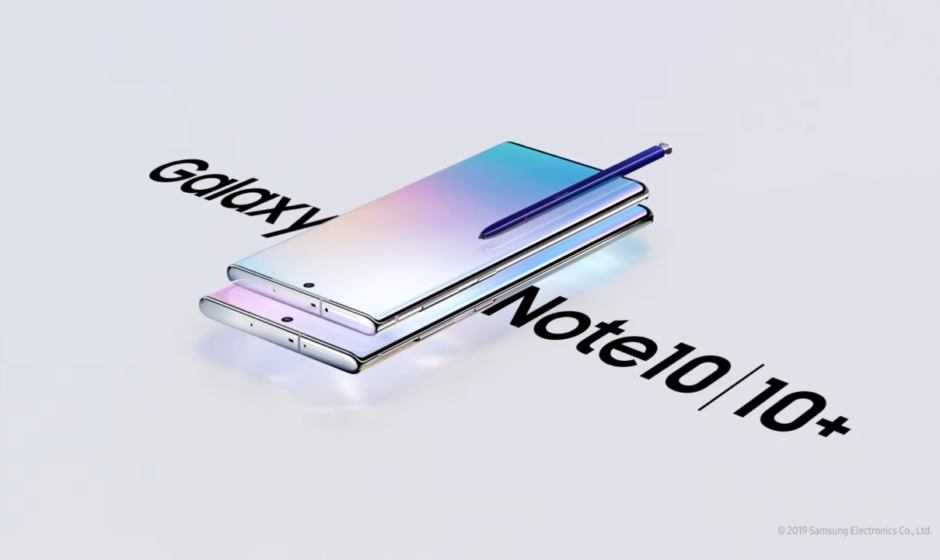 Samsung Galaxy Note 10 e Note 10 Plus: specifiche e prezzi