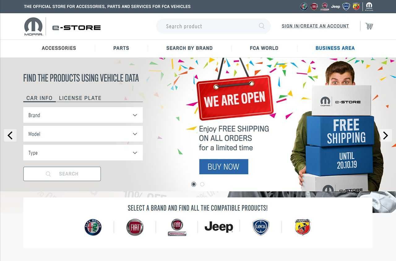 L'eCommerce di Mopar apre le porte a tutti i clienti