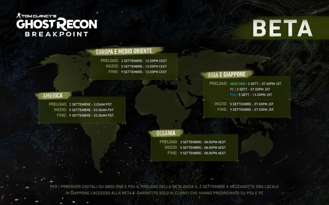 Ghost Recon Breakpoint: Closed Beta e piano post lancio