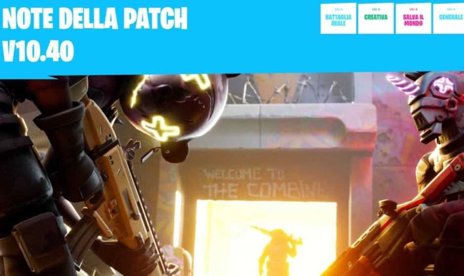 Fortnite: è arrivata la nuova patch notes | Patch 10.40