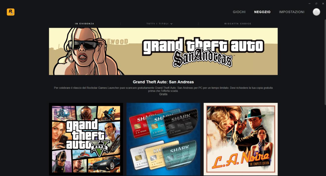 Il nuovo Rockstar Games Launcher è stato rilasciato