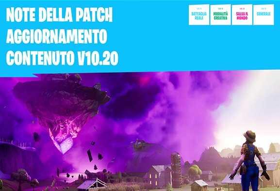 Fortnite: note della patch aggiornamento | Patch 10.20