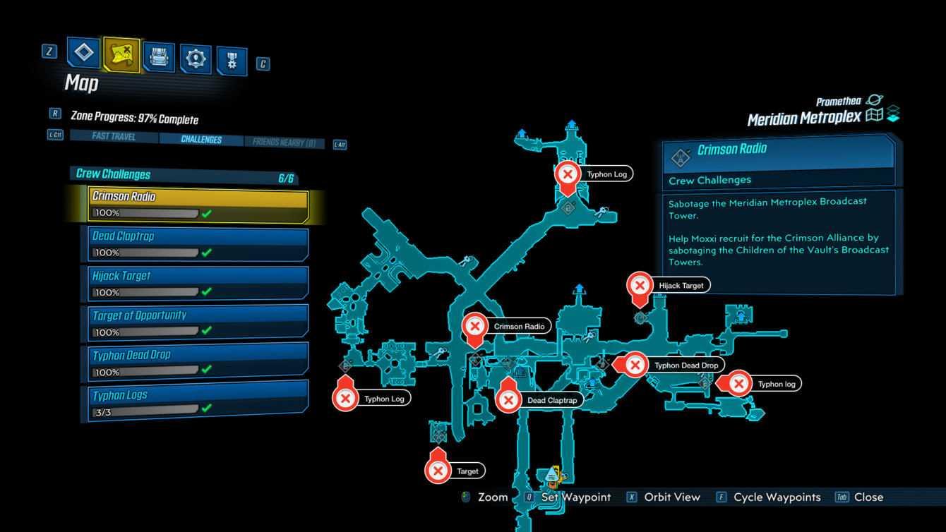 Borderlands 3: guida alle sfide del Meridian Metroplex