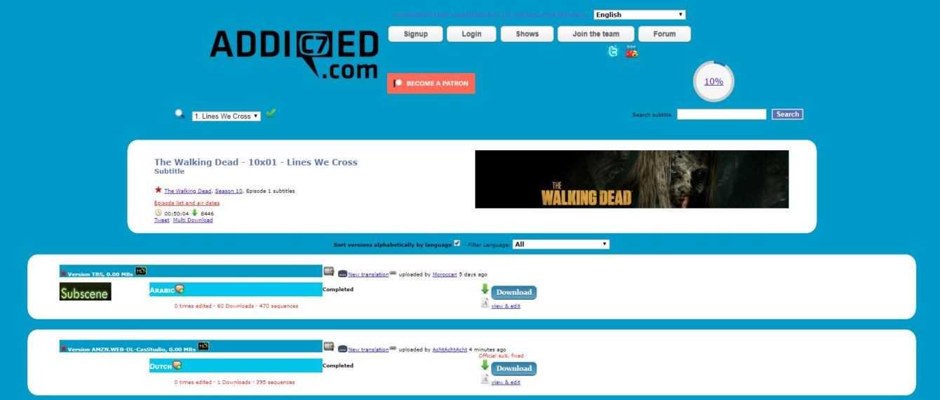 The Walking Dead 10: download sottotitoli (sub ita)