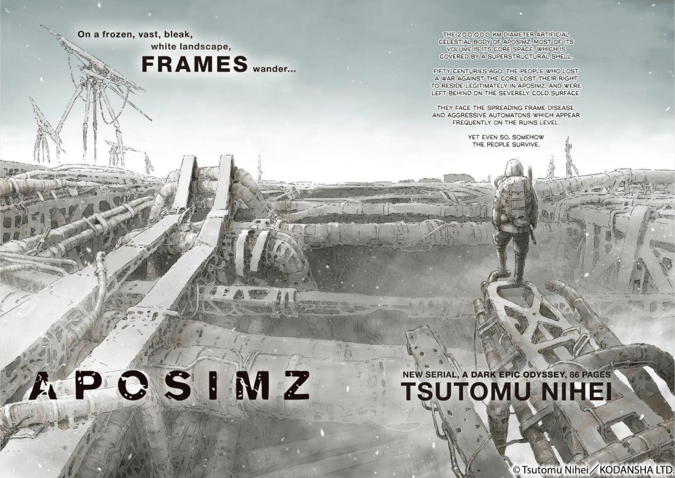 Aposimz: in arrivo in Italia il nuovo manga di Tsutomu Nihei