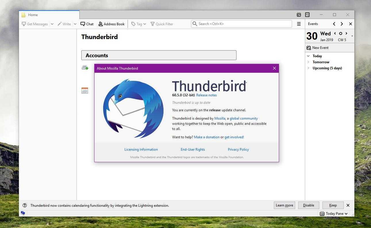 Thunderbird: supporto integrato a OpenPGP nel 2020