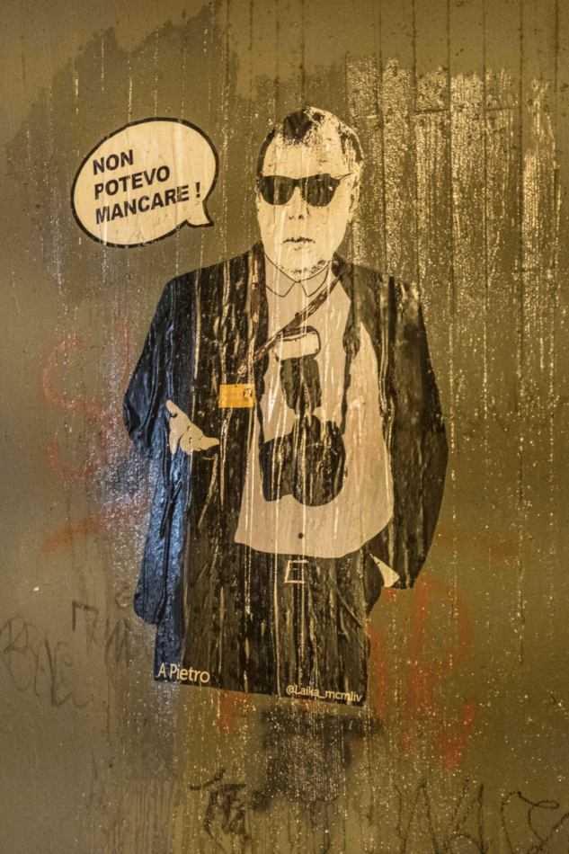 Pietro Coccia commemorato dalla Street Artist Laika