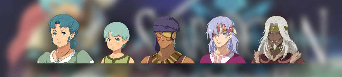 Star Ocean First Departure R: ecco le illustrazioni dei personaggi