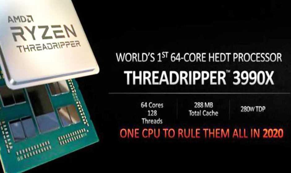 AMD Ryzen Threadripper 3990X: 64 core fisici nel 2020
