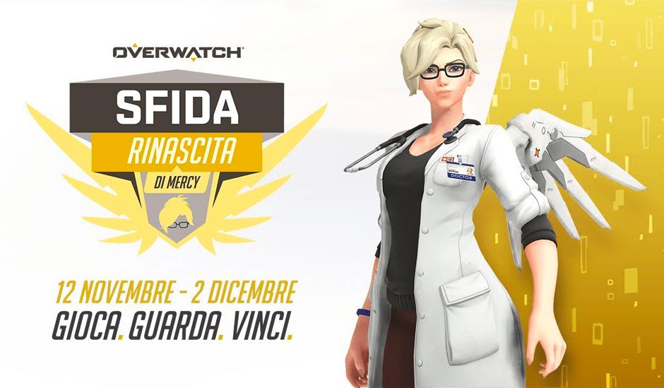 Overwatch: è ora disponibile l'evento Sfida Rinascita di Mercy