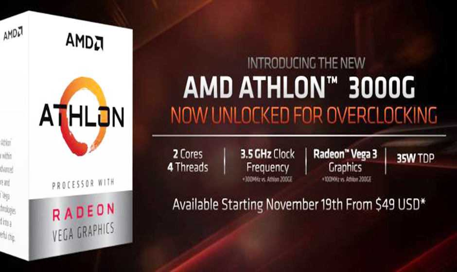 AMD Athlon 3000G: CPU overcloccabile a soli 49 dollari