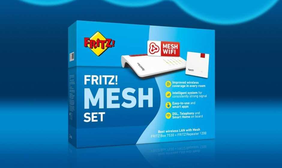 FRITZ!Box 7530 e FRITZ!Repeater 1200 insieme per una rete Mesh ad altissime prestazioni