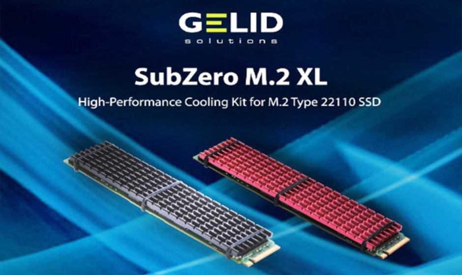 GELID SubZero M.2 XL: kit di raffreddamento per SSD M.2