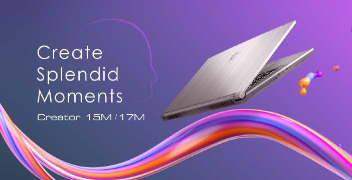 MSI Creator 15M e 17M: nuovi laptop per i professionisti