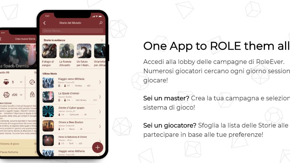 RoleEver: l'app per il gioco di ruolo