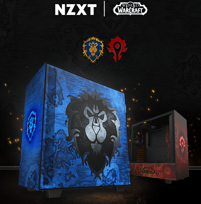NZXT presenta il nuovo case: tema WOW Alliance and Horde