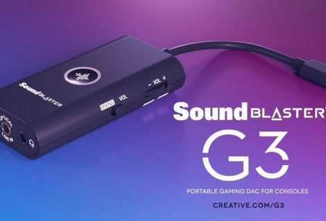 Sound Blaster G3: amplificatore DAC USB tascabile per PS4 e Nintendo Switch