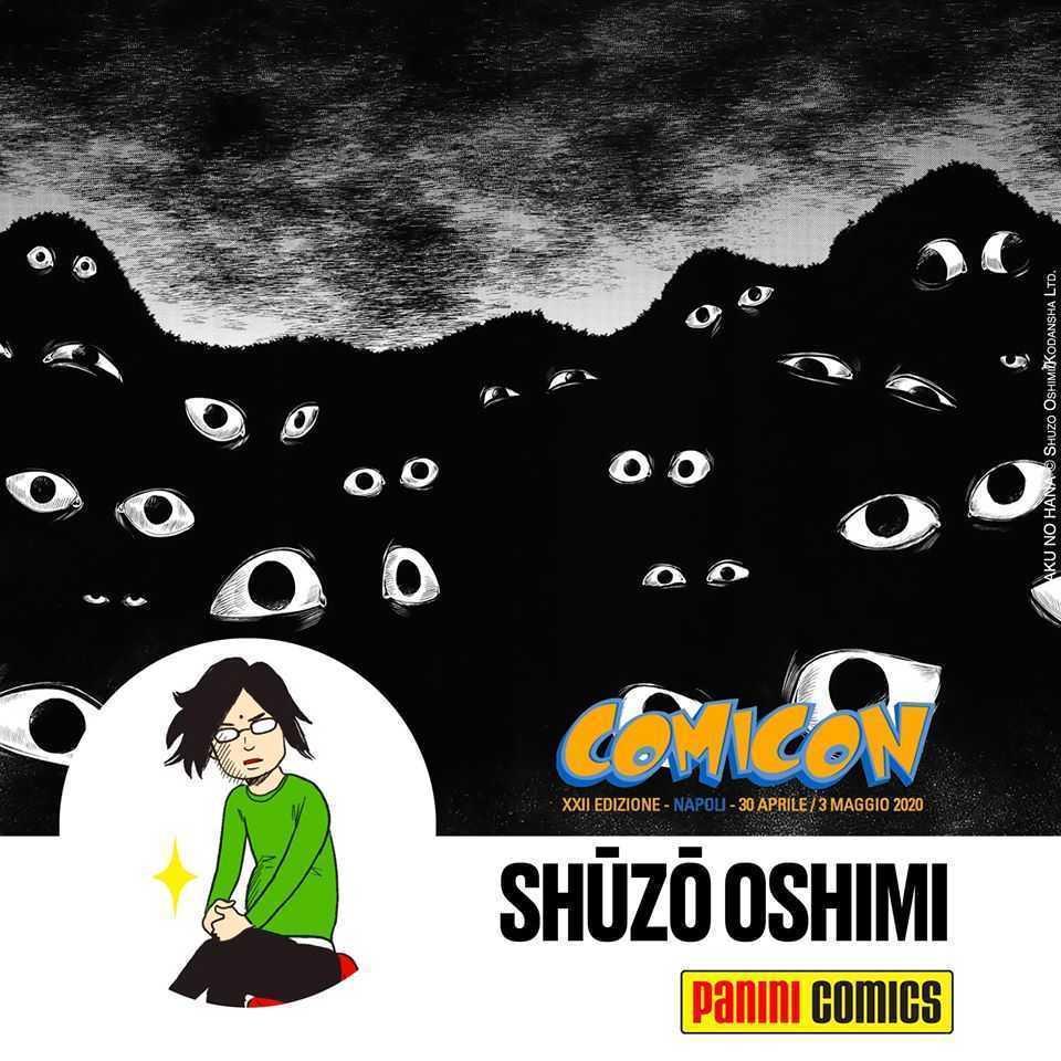 Shūzō Oshimi è il primo ospite rivelato del Napoli Comicon 2020