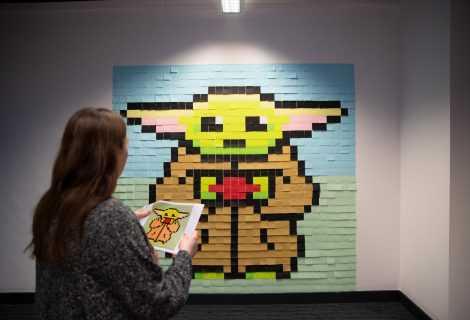 Ecco il Baby Yoda gigante realizzato con dei Post-it