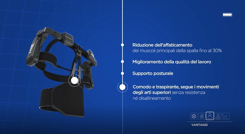 Comau: presentato l'esoscheletro MATE per aiutare il lavoro degli operai