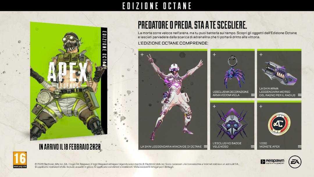 Apex Legends: l'edizione Octane è disponibile ora